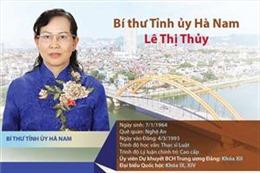 Bà Lê Thị Thủy giữ chức Bí thư Tỉnh ủy Hà Nam