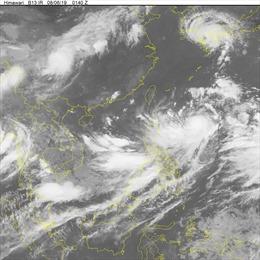 Cảnh báo vùng áp thấp trên khu vực Bắc Biển Đông