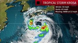 Nhật Bản kêu gọi hàng trăm nghìn người dân sơ tán để tránh bão Krosa