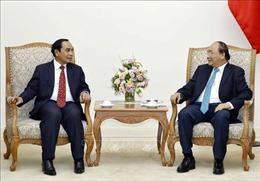Thủ tướng Nguyễn Xuân Phúc tiếp Phó Thủ tướng, Trưởng ban Kiểm tra Trung ương Lào
