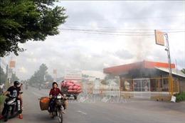 Hỏa hoạn thiêu rụi cây xăng tại Cửa hàng xăng dầu Nam Phương