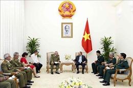 Thủ tướng tiếp Tổng Tham mưu trưởng, Thứ trưởng thứ nhất Bộ Các lực lượng vũ trang Cách mạng Cuba