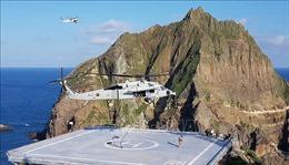 Rơi trực thăng gần đảo tranh chấp với Nhật Bản, 7 người Hàn Quốc mất tích