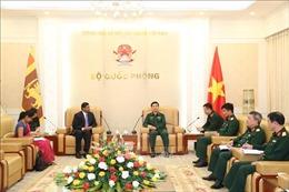 Tổng Tham mưu trưởng Quân đội nhân dân Việt Nam tiếp Đại sứ đặc mệnh toàn quyền Sri Lanka