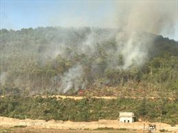 Khẩn trương chữa cháy rừng ở thị xã Kinh Môn,Hải Dương
