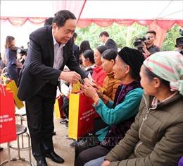 Chủ tịch Ủy ban Trung ương MTTQ Việt Nam thăm, chúc Tết nhân dân tỉnh Lạng Sơn