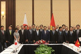 Đồng chí Phạm Minh Chính tiếp Tổng thư ký Đảng Dân chủ Tự do Nhật Bản