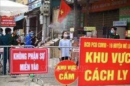 Cấm đường, phân luồng giao thông trên đường 23 phục vụ cách ly thôn Hạ Lôi