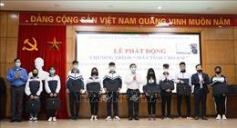 Tặng máy tính hỗ trợ học sinh có hoàn cảnh khó khăntại Hà Nội