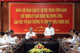 Bí thư Trung ương Đảng Trần Cẩm Tú làm việc với Ban Thường vụ Tỉnh ủy Thừa Thiên - Huế