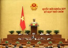 Thông cáo báo chí số 08, Kỳ họp thứ 9, Quốc hội khóa XIV