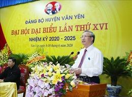 Thường trực Ban Bí thư Trần Quốc Vượng dự Đại hội điểm huyện Văn Yên, Yên Bái