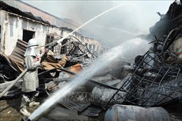 Vụ cháy tại khucảng Đức Giang không gây thiệt hại về người