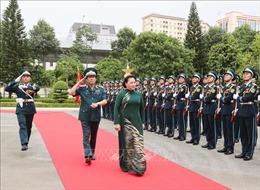 Chủ tịch Quốc hội thăm, làm việc tại Quân chủng Phòng không - Không quân