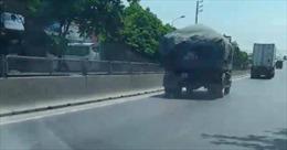 Ninh Bình: Phạt nặng lái xe ô tô tải làm rơi vãi đất đá ra đường