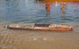 Hủy nổ quả bom 227 kg được phát hiện trên sông Gianh