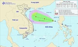 Áp thấp trên biển Đông di chuyển theo hướng Tây Tây Bắc