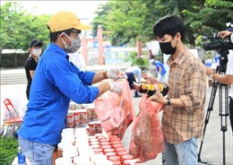 Đà Nẵng: 'Siêu thị sẻ chia 0 đồng'hỗ trợ sinh viên khó khăn chịu ảnh hưởng dịch COVID-19