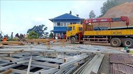 Bình Thuận: Tháo dỡ công trình xây dựng trái phép trên đèo Đại Ninh