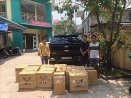 Bắt quả tang vụ vận chuyển 10.500 bao thuốc lá điếu nhập lậu