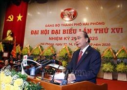 Đồng chí Nguyễn Xuân Phúc dự, chỉ đạo Đại hội Đảng bộ thành phố Hải Phòng lần thứ XVI