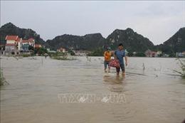 Mưa lũ gây ngập lụt tại tỉnh Ninh Bình