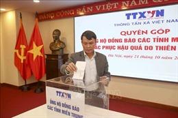 Thông tấn xã Việt Nam quyên góp ủng hộ đồng bào miền Trung