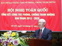 Tổng Bí thư, Chủ tịch nước Nguyễn Phú Trọng phát biểu kết luận tại Hội nghị toàn quốc về phòng, chống tham nhũng