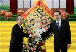 Chủ tịch Mặt trận Tổ quốc Việt Nam chúc mừng Giáng sinh Giáo phận Thái Bình