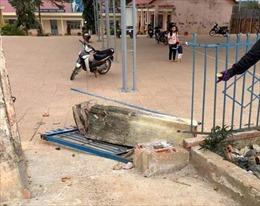 Trụ cổng trường đổ khiến một học sinh tử vong