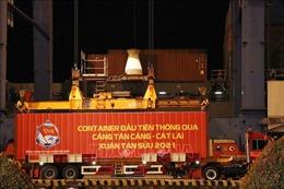 Phát lệnh làm hàng đầu Xuân tại cảng Tân Cảng - Cát Lái