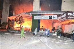 Cháy lớn tại Trung tâm Đào tạo Vận động viên cấp cao Hà Nội