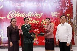Chủ tịch Quốc hội Lào chúc Tết cán bộ, chiến sĩ Binh đoàn 11