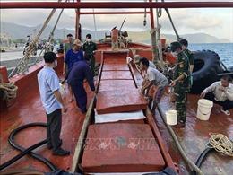 Bắt giữ tàu cá vận chuyển 180.000 lít dầu DO không rõ nguồn gốc