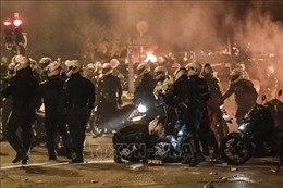 Sinh viên Hy Lạp biểu tình phản đối tình trạng bạo lực cảnh sát