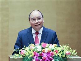 Thủ tướng Nguyễn Xuân Phúc trình bày chuyên đề Chiến lược phát triển kinh tế - xã hội 10 năm