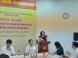 Đồng chí Trương Thị Mai được cử tri nơi cư trú giới thiệu ứng cử ĐBQH khóa XV
