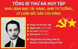 Tổng Bí thư Hà Huy Tập: Nhà lãnh đạo tài năng, nhà tư tưởng, lý luận sắc sảo của Đảng
