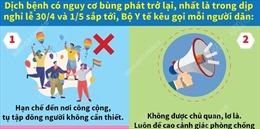 Khuyến cáo phòng chống dịch COVID-19 dịp nghỉ lễ 30/4 và 1/5/2021