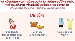 Hà Nội: Tạm dừng hoạt động quán ăn, uống đường phố, trà đá, cà phê vỉa hè