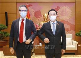 Chủ tịch Quốc hội Vương Đình Huệ tiếp Đại sứ EU tại Việt Nam
