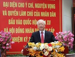 Tổng Bí thư Nguyễn Phú Trọng:Đất nước sẽ bước vào giai đoạn phát triển mới, đáp ứng nguyện vọng của cử tri