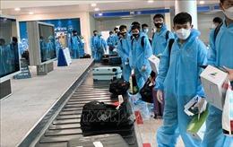 Đội tuyển Việt Nam về tới TP Hồ Chí Minh, bắt đầu cách ly tập trung