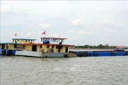 Liên tiếp phát hiện các vụ vận chuyển cát trái phép trên sông Soài Rạp