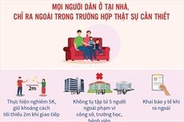 Từ 0 giờ ngày 19/7, Hà Nội dừng tất cả các dịch vụ không thiết yếu