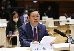 Chủ tịch Quốc hội phát biểu về ứng phó với đại dịch COVID-19 và biến đổi khí hậu