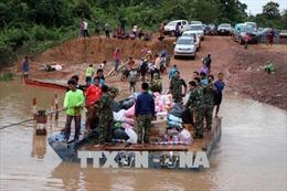 Công ty Hàn Quốc SK E&C xây nhà tạm cho người dân sau vụ vỡ đập thủy điện tại Lào