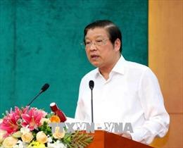 Trưởng ban Nội chính Trung ương Phan Đình Trạc làm việc tại Sóc Trăng