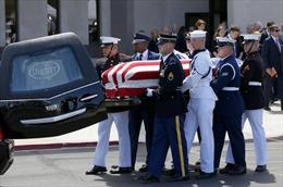 Mỹ tổ chức lễ truy điệu danh dự cố Thượng nghị sĩ John McCain