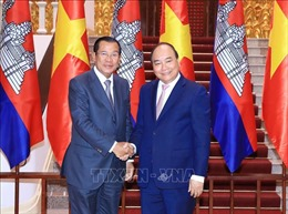 WEF ASEAN 2018: Thủ tướng Nguyễn Xuân Phúc tiếp Thủ tướng Campuchia